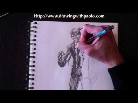Dessiner un zombie avec paolo morrone youtube - Comment dessiner un zombie ...