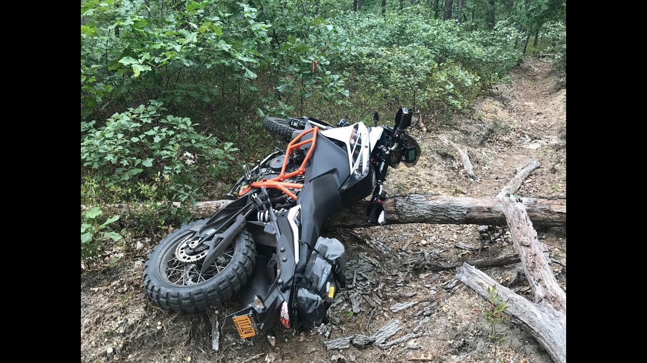 Ktm 1090 Adventure R Logs Water Single Gnarly Tracks In South