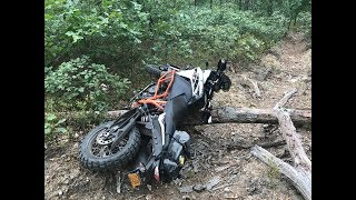 KTM 1090 ADVENTURE R @ Logs, Water & Single/Gnarly Tracks in South Jersey