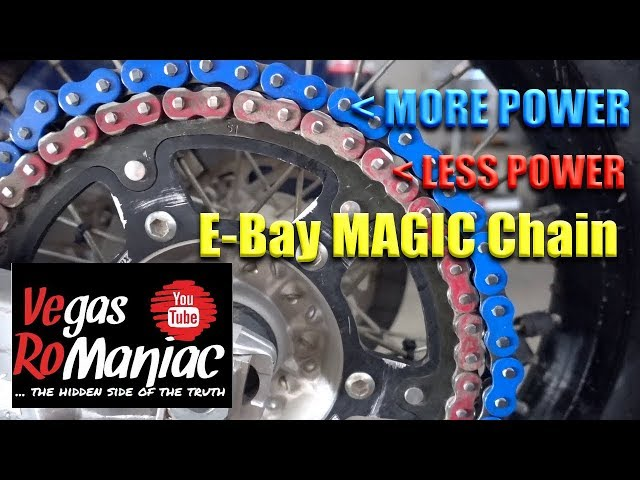 YOU buy $47 BLUE E-bay Motorcycle O-Ring CHAIN and sprocket KIT - THIS HAPPENS (...still worth it)
