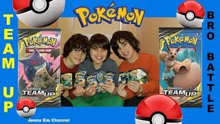 Pokemon TCG Team Up Pack Battle! Jenna Em
