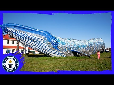 Jason Hurst - Whale Breaks Record For Largest Recycled Plastic Sculpture