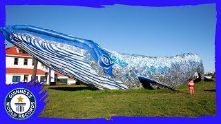 Largest recycled plastic sculpture (supported) - Guinness World Records