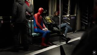 Spider-man having a conversation with fake Spider-man