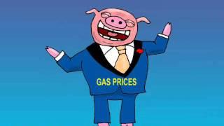 gas prices animated editorial cartoon