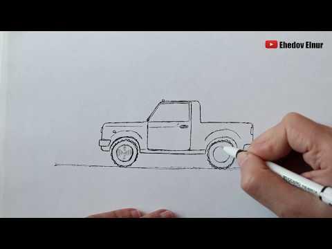 Как легко нарисовать машину Пикап / Учимся рисовать