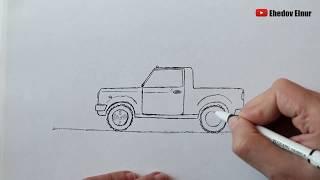 как нарисовать машину легко