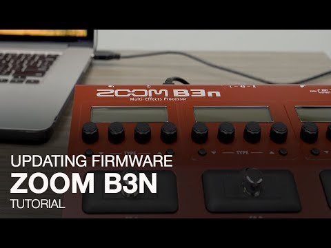 Zoom B3n: Updating the Firmware