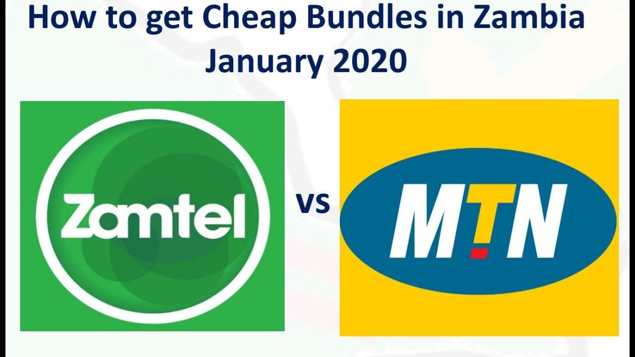 How To Get Cheap Bundles In Zambia January 2020 Mtn Vs Zammtel Youtube