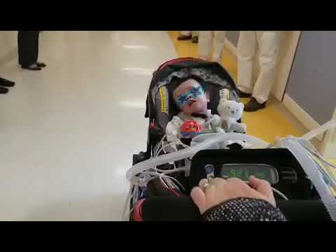 After 572 days in the hospital, baby Mikey goes home for the very first time