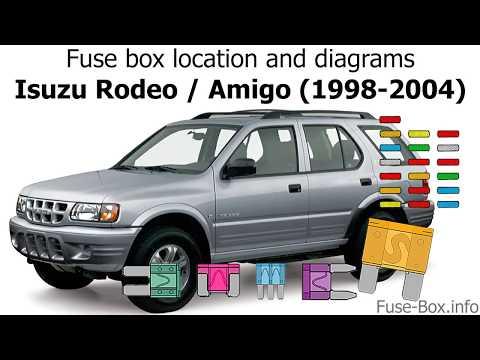 fuse box location and diagrams: isuzu rodeo / amigo (1998-2004) - youtube