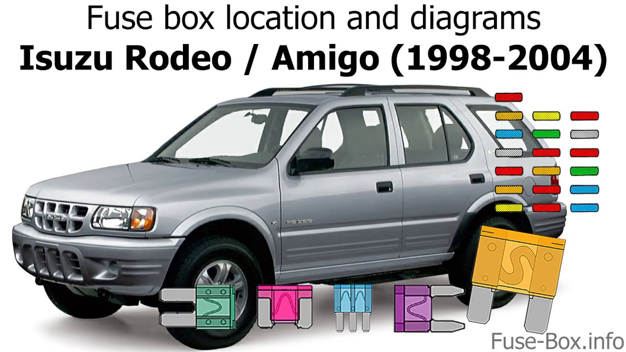 Fuse box location and diagrams: Isuzu Rodeo / Amigo (1998-2004) - YouTube | 99 Isuzu Rodeo Fuse Box |  | YouTube