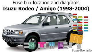 [SCHEMATICS_48EU]  Fuse box location and diagrams: Isuzu Rodeo / Amigo (1998-2004) - YouTube | Wiring Diagram For 98 Isuzu Trooper |  | YouTube