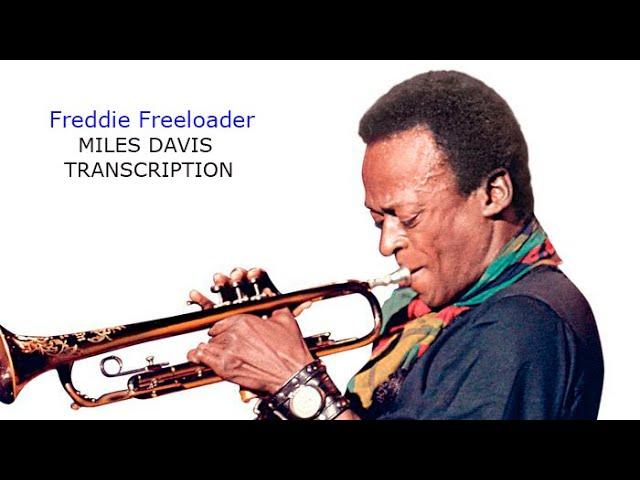 Freddie Freeloader-Miles Davis' (Bb) Solo. Transcribed by Carles Margarit