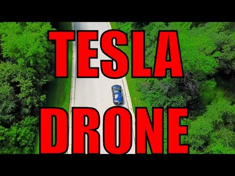 Tracking Tesla Model S by Drone