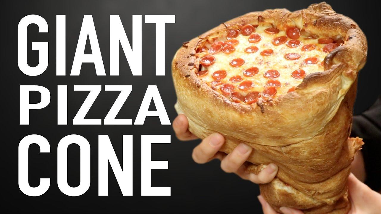Giant Pizza Cone Vs Giant Pizza Cone Youtube