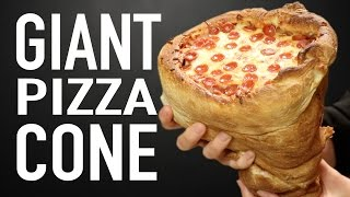 One of HellthyJunkFood's most viewed videos: GIANT PIZZA CONE VS GIANT PIZZA CONE
