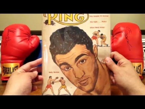 """THE RING"" MAGAZINE COLLECTION-ROCKY MARCIANO COVERS"