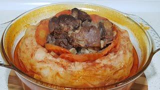 Необычное блюда из баранины с капустой