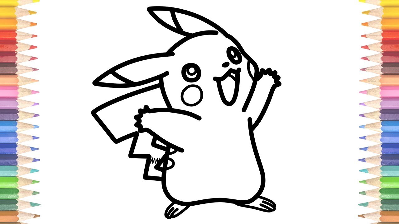 How to Draw Pokemon Coloring Pages Pikachu Learn Colors ...