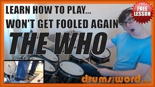 Won t Get Fooled Again FREE Drum Lesson How To Play Drum SOLO