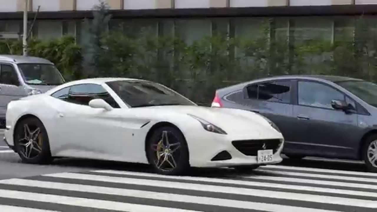都内を快音で疾走するフェラーリ カリフォルニアt F430 458 Ferrari F430 458