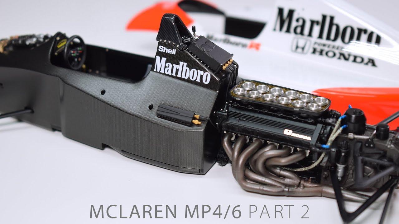 Building Senna's MP4/6 PART 2 McLaren Fujimi 1/20 F1 Scale Model