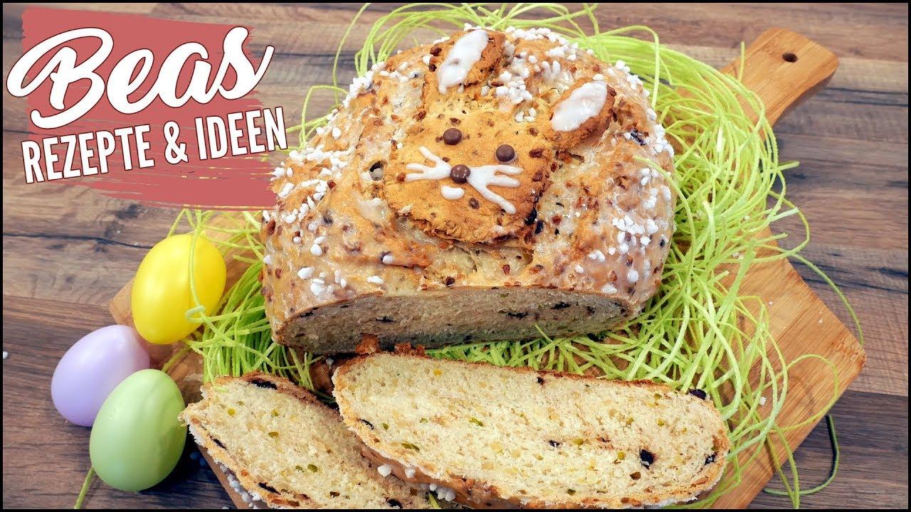 Osterbrot Rezept  Brot backen mit Pistazien - Mandeln und Schokodrops
