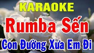 Karaoke Nhạc Sống Rumba Nhạc Sến | Bolero Nhạc Vàng Trữ Tình | LK Con Đường Xưa Em Đi | Trọng Hiếu
