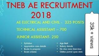 TNEB AE RECRUITMENT 2018- Syllabus, case details, books, last date