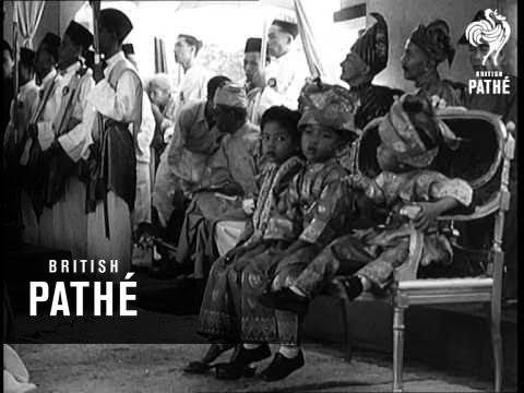 Malayan State Crowns New Rajah (1949)