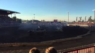 2017 North Idaho fair demo derby heat 2