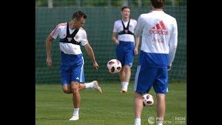 Тренировка российской сборной перед матчем с Испанией