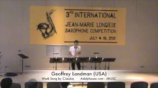 3rd JMLISC: Geoffrey Landman (USA) Work Song by C. Lauba