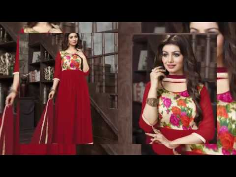 Anarkali Dresses Latest Fashion Georgette Collection latest indian fashion for wedding