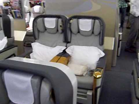Emirates First Class Cabin On Airbus A330 At Hong Kong