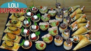 Canapés o aperitivos variados ESPECIAL NAVIDAD Muy fáciles. Recetas paso a paso. Loli Domínguez