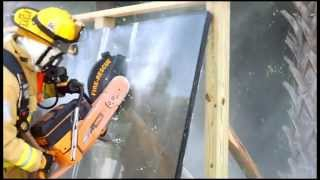 The EXTRACTOR Rescue Blade™ - Cutting Bulletproof Glass