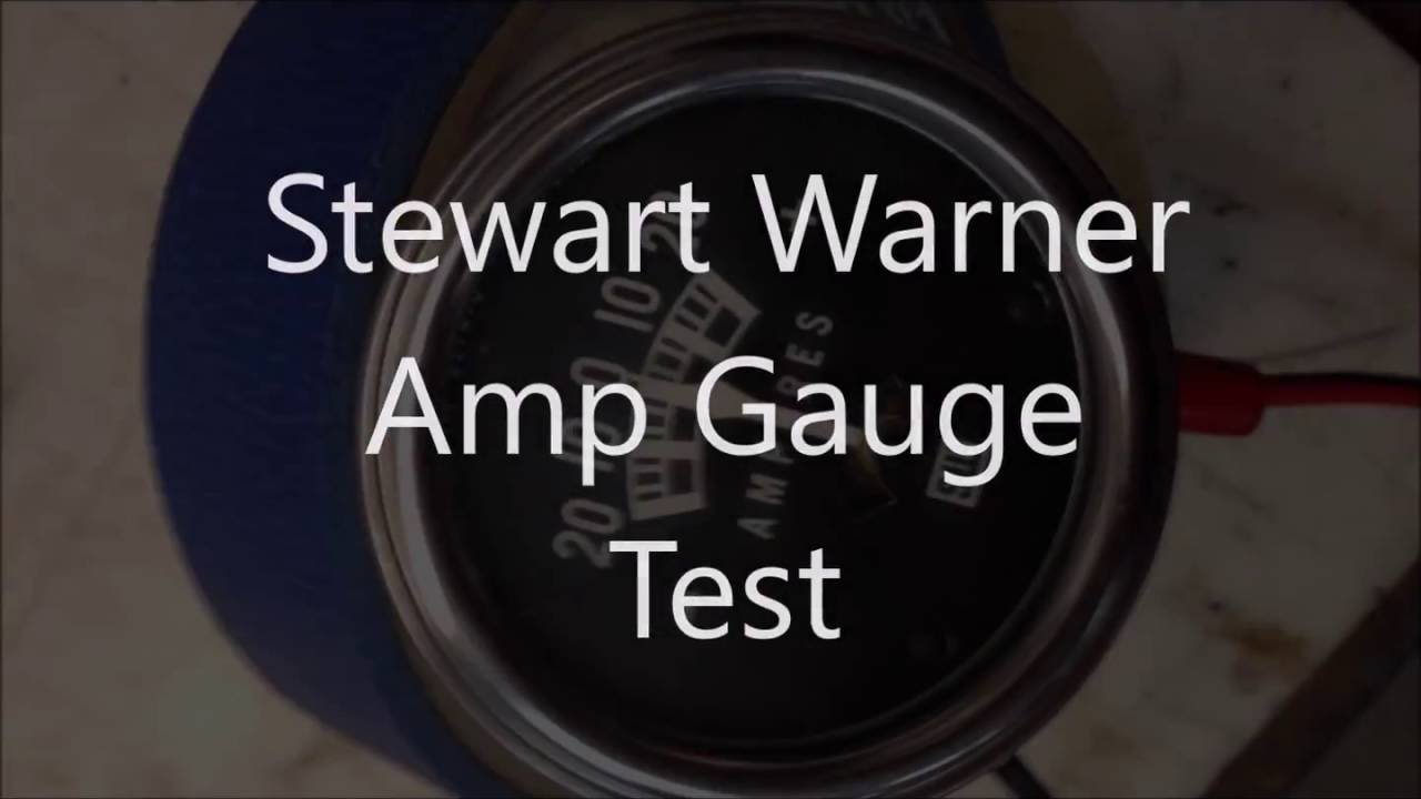 Stewart Warner Amp Gauge Wiring Diagram Opinions About Test Youtube Rh Com Tachometer Info