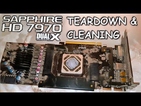 HOW TO CLEAN YOUR GPU - Sapphire 7970 Dual X GPU - Teardown & Cleaning (DYI)
