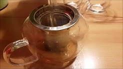 AckMond 600ml Teekanne Glas mit Herausnehmbarem Edelstahlsieb in Apple Form