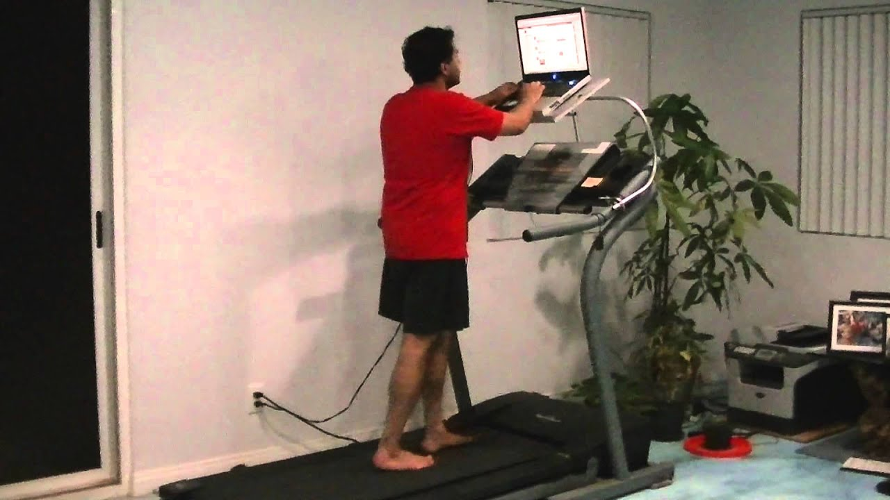 Laptop Treadmill Stand - YouTube