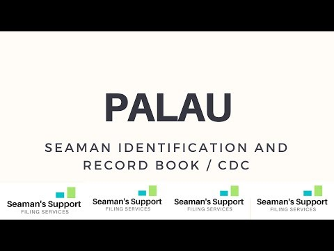 What is Palau CDC ? How Where to apply Palau Seaman Book online  ?
