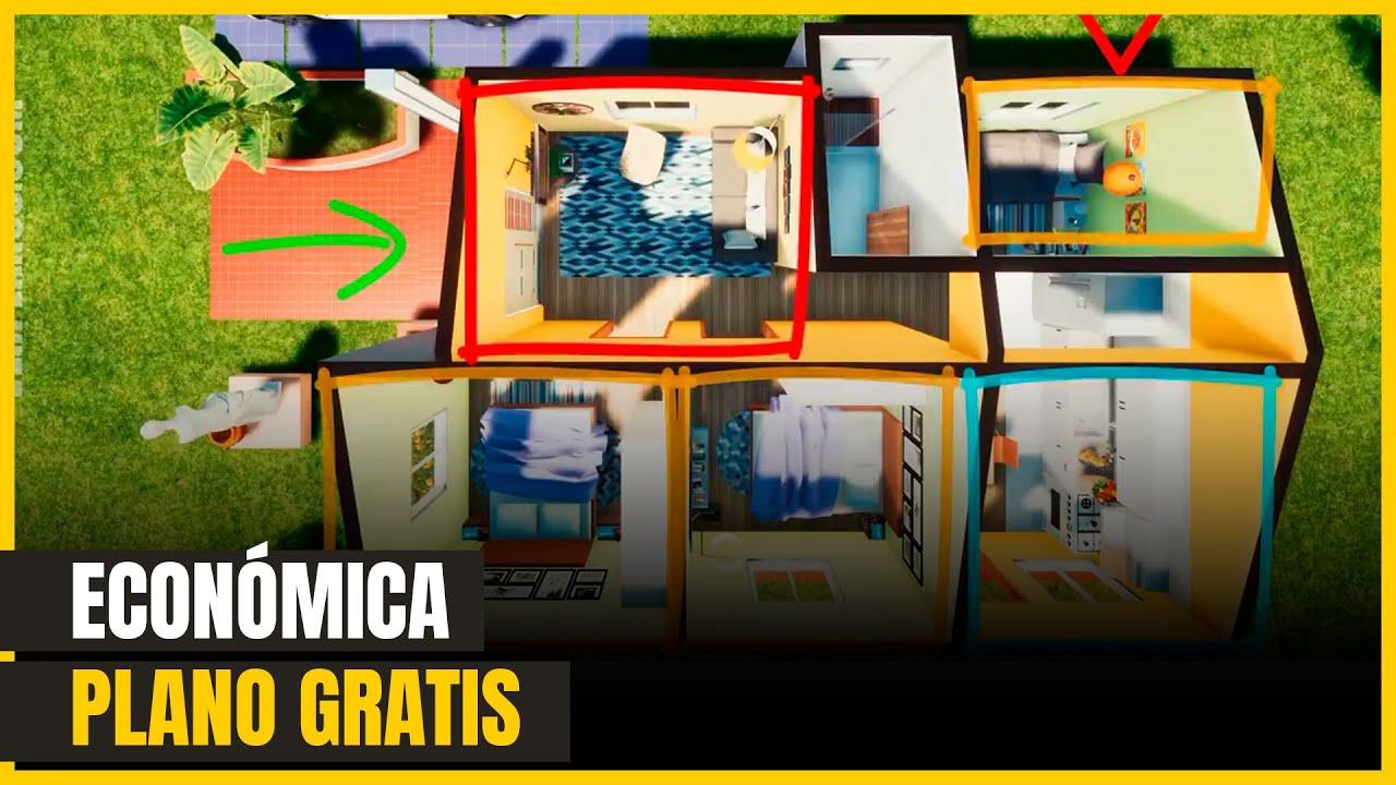 Descargar Plano De Casa Gratis Con Medidas De 1 Piso Y 3 Habitaciones