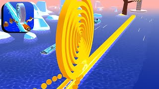 Spiral Roll - All Levels Gameplay Android,ios #88 screenshot 2