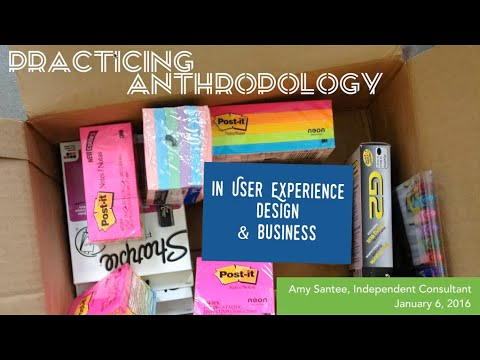 Amy Santee Webinar Practicing Anthropology In User
