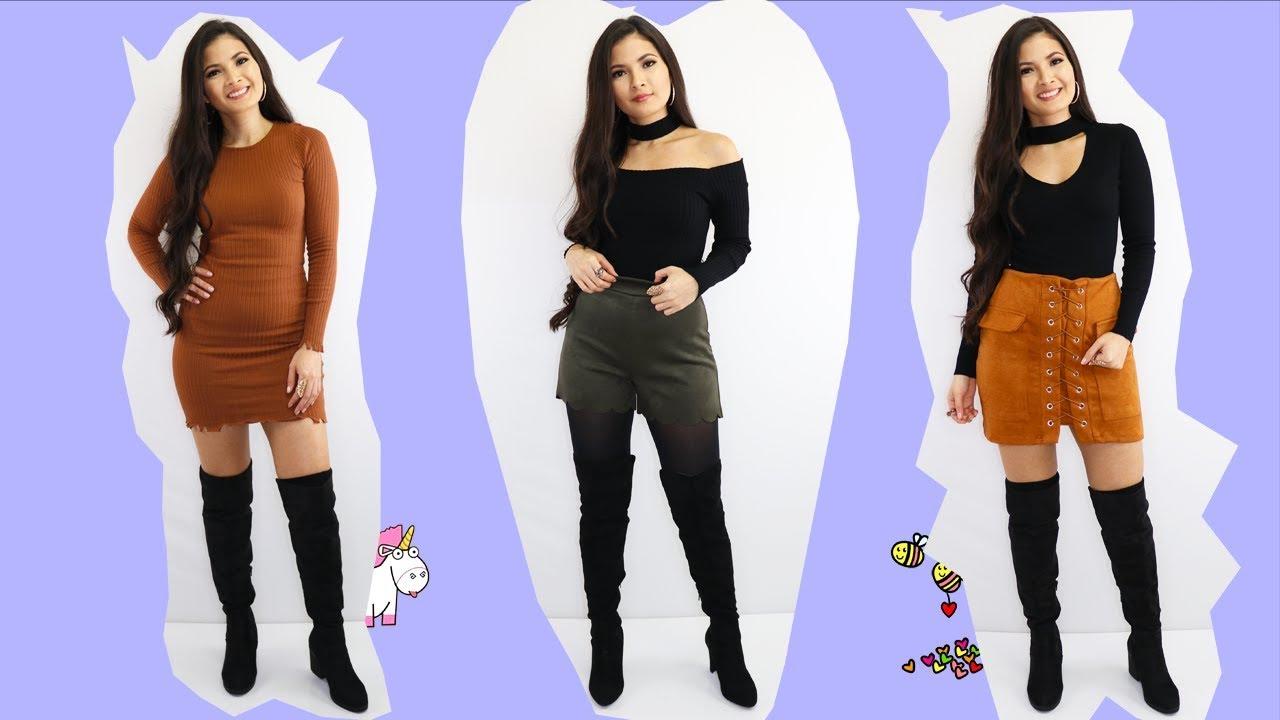 Como Combinar Botas Altas Arriba De La Rodilla Ideas De Outfits Bessy Dressy