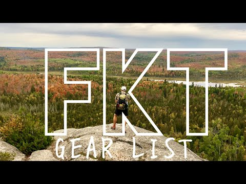 My 7.9lb FKT Unsupported Gear List (Superior Hiking Trail)
