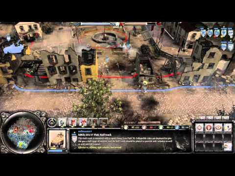 Company Of Heroes 2: The British Forces Gameplay - Infrared booty |