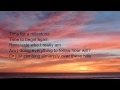 Capture de la vidéo Whatever You're Doing (Sanctus Real) Lyrics